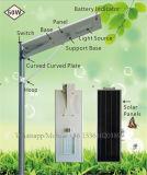 réverbère solaire de 50W DEL avec le contrôle de temps pour la route