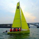 Barca di navigazione della vetroresina del nuovo modello 2017 Cina fatta per uso di addestramento