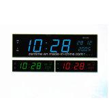 3 색깔 LED 큰 전기 디지털 시간과 날짜 시계