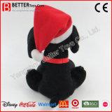 新年のクリスマスのプラシ天のトイドッグの詰められたパンダ