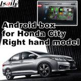 Relação video Android do sistema de navegação do GPS para Honda righthand cabida/jazz. Ligação Android do espelho de opinião traseira da navegação do sistema do toque