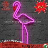 O jardim impermeável Ornaments as luzes de néon do motivo da escultura cor-de-rosa do flamingo do diodo emissor de luz 2D para o Natal
