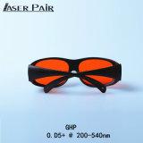 Laser protetor e óculos de proteção de segurança médicos Ghp do laser dos óculos de proteção de segurança do laser 532nm dos óculos de proteção do laser 200-532nm para a máquina de estaca do laser, equipamento de aquecimento, beleza da pele