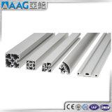 Le profil en aluminium d'en demi-cercle de norme européenne/tube en aluminium de dépliement d'argent/a poli le métal traitant des pièces