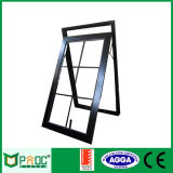 Toldo de aluminio Windows del marco del diseño de la parrilla con el vidrio doble Pnoc0011thw