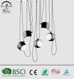 Matériau en aluminium populaire Lampes pendentif en acrylique pour décoration d'éclairage de restaurant