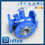Didtekの石油化学炭素鋼のフランジは3つの方法球弁を終了する