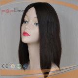 Парик женщин коротких черных человеческих волос Remy девственницы цвета Silk верхний