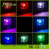 Colore di RGB di telecomando del proiettore 85-265V IP65 10W 20W 30W 50W 100W 150W del fornitore LED della Cina che cambia l'indicatore luminoso di inondazione esterno del LED