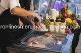 La singola vaschetta mobile ha fritto il laminatoio del gelato/rullo del gelato/la macchina del gelato della frittura/rullo istante del gelato/Ce freddo fritto del carrello di Icream/del carrello piatto del gelato