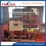 Horizontale Retorte-Maschine mit Wasser-Kaskaden-Prozess für in Büchsen konservierte Nahrung