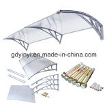 Einfache Polycarbonat-Balkon-Markise der Montage-DIY im Freien(YY1000-C)