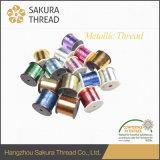 Пряжа резьбы вышивки тавра Sakura металлическая