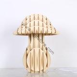 Lâmpada de mesa decorativa de madeira montada do cogumelo do estilo europeu