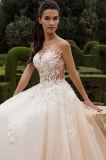 A parte superior de Leona tende vestidos de casamento da princesa Multilayer