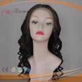 Parrucca umana piena del merletto dei capelli del Virgin di Remy di colore naturale