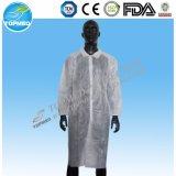 SMS Krankenhaus-Labormantel mit Baumwolle gestrickter Stulpe