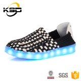 Schuhebereift Breathable Slip-onlicht-Freizeit des Erwachsen-7 der Farben-LED LED