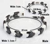 Bracelet de couples de mode de Hottime pour les hommes avec la pierre d'hématite (10050)