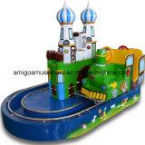Treno del castello di giro della sosta del rifornimento della strumentazione di divertimento