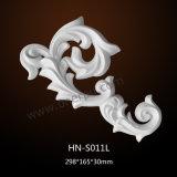 Appliques de polyuréthane et ornements Hn-S011 d'unité centrale de moulages de meubles d'onlays