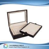 Caja de embalaje de madera/del papel de lujo de la visualización para el regalo de la joyería del reloj (xc-dB-018b)