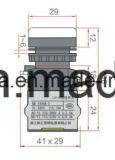 CB/Ce/CCC를 가진 열쇠 구멍 6-380V 22mm 누름단추식 전쟁 스위치