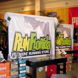 Heißer Verkaufs-preiswertestes Preis-Wärmeübertragung-Messeen-Spannkraft-Gewebe-Fahnen-Drucken für Förderung