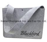 高品質の昇進のカスタム灰色のウールのフェルトのメッセンジャー袋