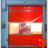 ステンレス鋼モーターを備えられた高速PVC速く圧延シャッター産業ドア