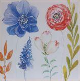 Impresión hermosa de la lona de la flor de la decoración casera moderna con brillo