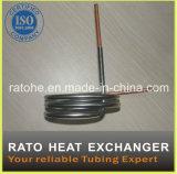 ISO Goedgekeurd Roestvrij staal en de Koper Verdraaide Warmtewisselaar van de Buis