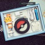 Conjunto móvil luminoso de carga del rectángulo de batería de la potencia de la fuente de alimentación de Pokemon del tesoro de la historieta de Pokemon