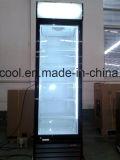 Refrigerador de Merchandiser de porta de vidro de estilo novo Swing com iluminação LED