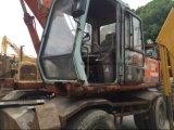 El excavador usado Hitachi Ex160wd, Japón de la rueda utilizó el excavador de la rueda
