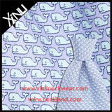 16mm Twill Custom Whale Screen Print Italian 100% Tissu en soie pour cravate