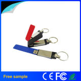Memoria Flash de cuero del USB de Keychain del metal al por mayor 8GB