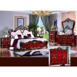 Antike Schlafzimmer-Möbel mit antikem Bett und Garderobe (W806A)