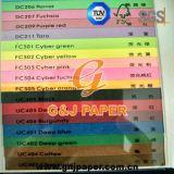Papier vergé de couleur non-enduite en feuille pour l'impression