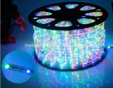 Licht van de LEIDENE Strook Light/LED van de Kabel het Licht/Openlucht/Neonlicht/het Licht van Kerstmis/het Licht van de Vakantie/van het Licht/van de Staaf van het Hotel LEIDENE 25LEDs 1.6W/M van de Draden Lichte Ronde Twee Kleurrijke Strook