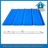 Folhas de metal de aço dos revestimentos do telhado/parede da cor ondulada do material de construção