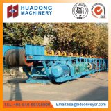 Transportador de correa acanalado del flanco para la manipulación de materiales a granel