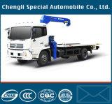 판매를 위한 5ton 기중기를 가진 Dfl 시리즈 포좌 구조차 트럭