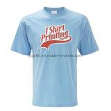 Camisa orgânica relativa à promoção do algodão T do poliéster 35 do preço de Competitve 65
