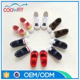 2017の熱い販売法の子供の靴の子供動物プリント学校の靴