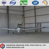 Percha de acero prefabricada del edificio del marco de puerta para los aviones