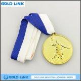 カスタムメダルバスケットボールの金の円形浮彫りはメダルクラフトを遊ばす