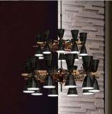 호텔을%s 2017의 최신 니켈 현대 거는 펀던트 램프