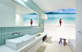 Papier peint imperméable à l'eau bon marché amovible neuf de modèle pour la décoration de salles de bains