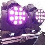 DJ LEDの小型ビーム段階の照明12X12W移動ヘッド